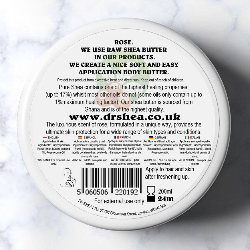 Rose body butter by dr shea