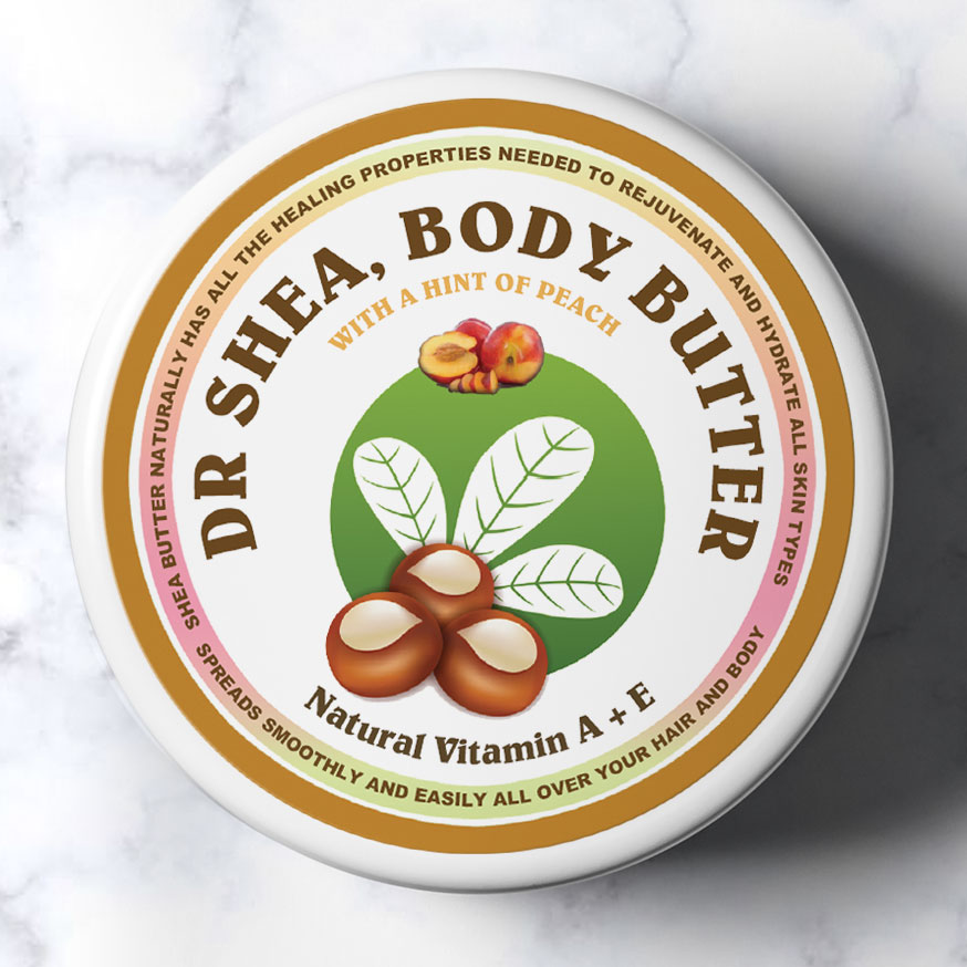 Peach body butter by dr shea 200ml