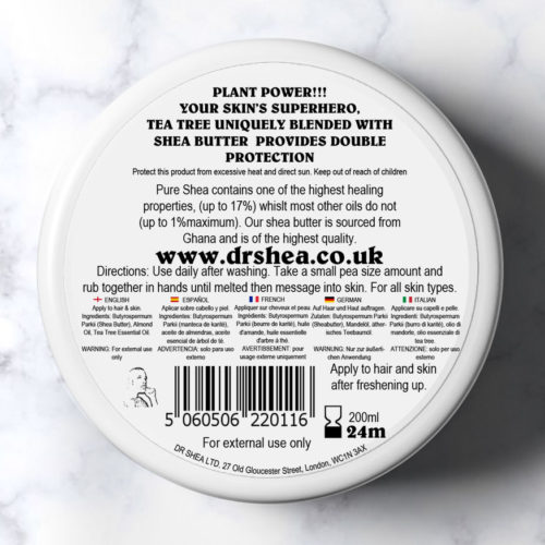 Tea Tree Body Butter By Dr Shea